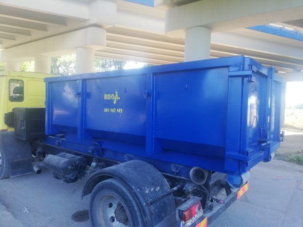 Wynajem/wywóz kontenerów na gruz, odpady budowlane itp. Kontener KP