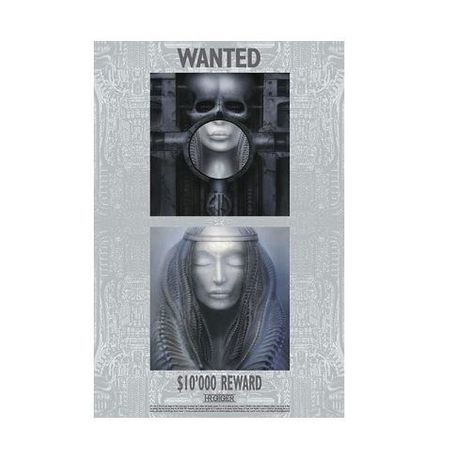 "Plakat H.R. Giger ""WANTED REWARD $10,000"""