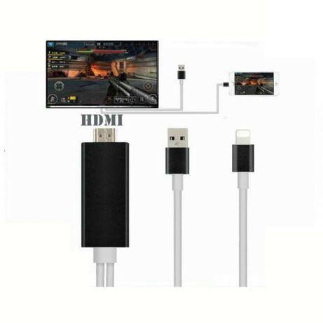 T35 Cabo HDMI DE iPhone 5 5S 5C 6 6S Ipad 4 Air Mini para TV Novo! ^A