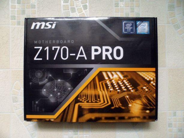 Материнська плата Socket 1151 MSI Z170-A Pro
