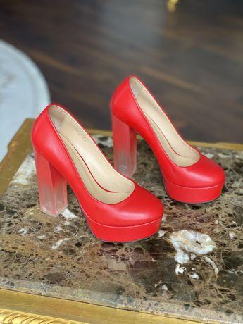 Червоні туфлі Paoletti натуральна шкіра розмір 37