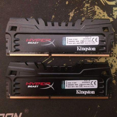 DDR3 Kingston Hyperx Beast 1600mhz C9 2x8GB - Total 16GB