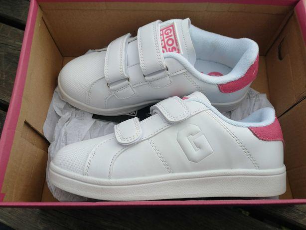 adidasy dla dziewczynki r. 33 gioseppo skóra 21cm nowe białe trampki
