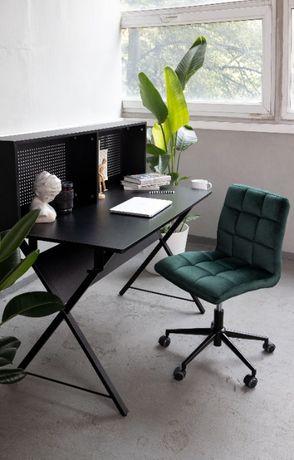 OLX-381 Krzesło obrotowe pikowane butelkowa zieleń welur