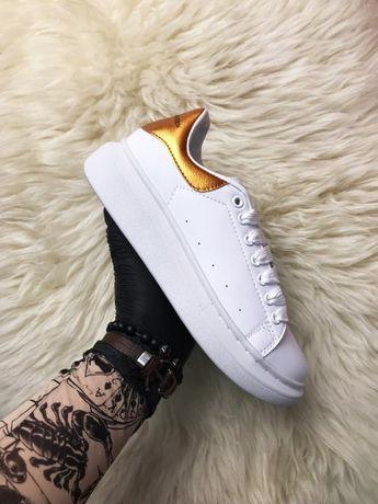 Ботинки Alexander McQueen Golden   черевики Женские маквин
