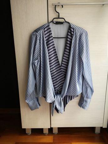 Niebieskie body Zara