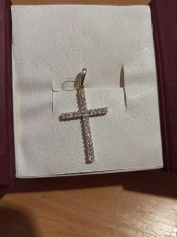 Хрестик срібний, 925 проби