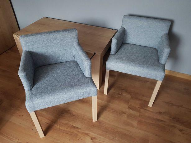 Fotel skandynawski, krzesło tapicerowane skandynawskie, jak nowe