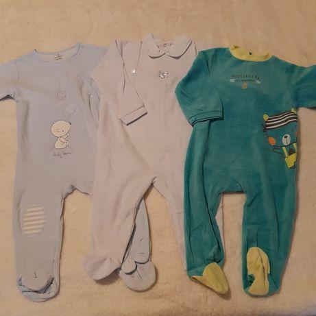 Pijamas veludo babygrow 12-18