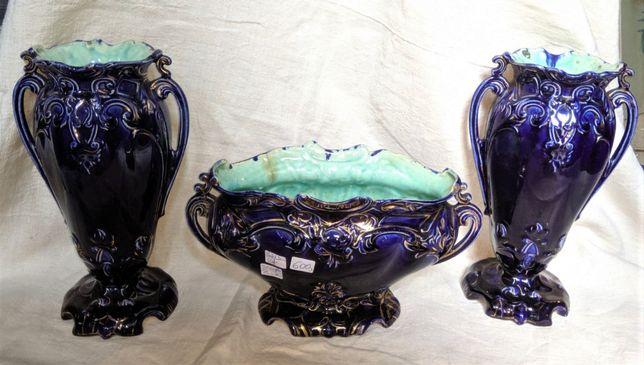 Centro Mesa Azul Cobalto Séc XIX