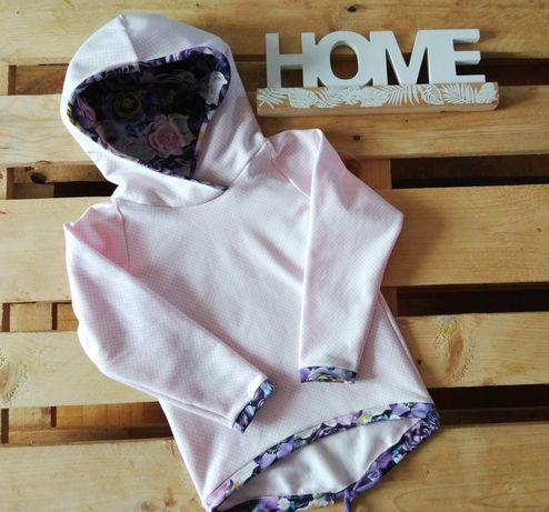 Piękna bluza z kapturem handmade