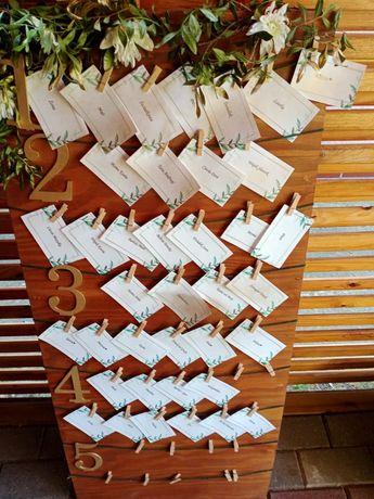 Tablica z listą gości