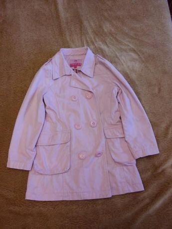Легкий розовый плащик для девочки