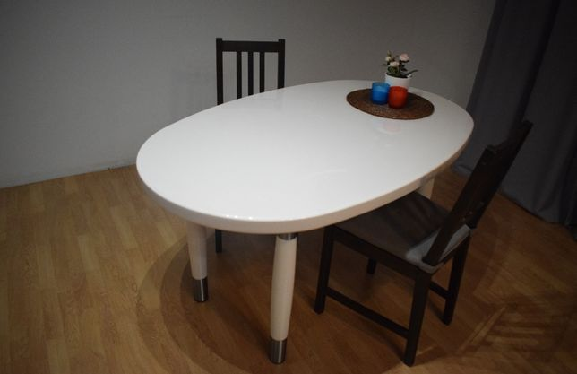Przepiękny stół do jadalni biały połysk