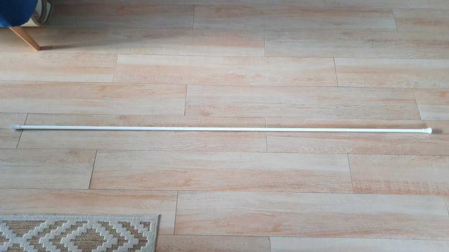 Karnisz biały 200 cm metalowy 19 mm