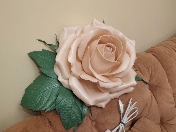 Светильник большая роза изолон