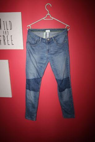 Spodnie jeans rurki Adidas Neo