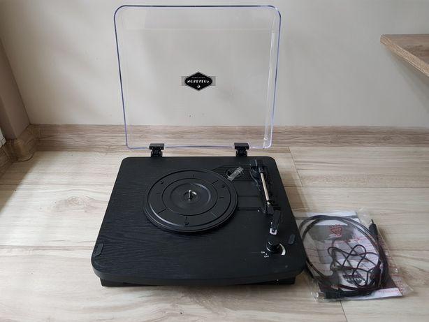 Gramofon w stylu retro z wbudowanymi głośnikami USB MP3 AUX Nostalgy