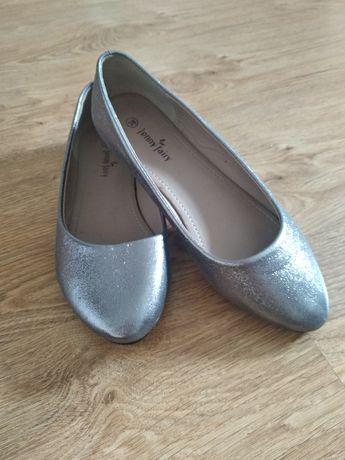 Baleriny srebrne, rozmiar 38