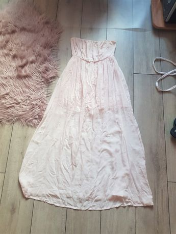 Długa suknia na gumce S/M