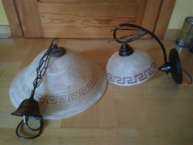 Lampa i kinkiet z greckim wzorem