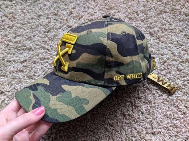 Новая кепка Off-White  Офвайт бейсболка мужская женская камуфляж Nike