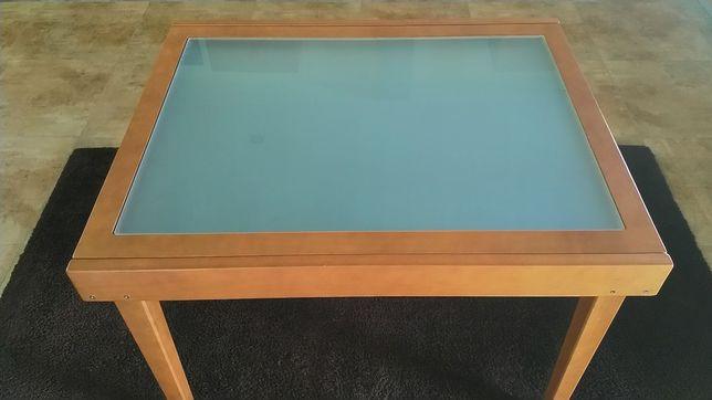 Mesa sala com tampo em vidro