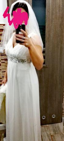 Sukienka ślubna plus gratis bolerko i welon
