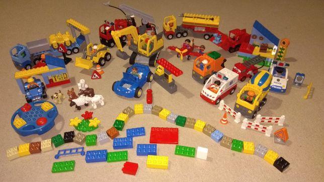MEGE zestaw klocki LEGO DUPLO 4,8KG ponad 200 elementów 15+ zestawów