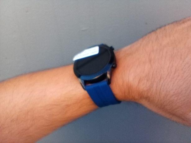 Relógio smartwatch com chamadas via bluetooth (novo) Roxo