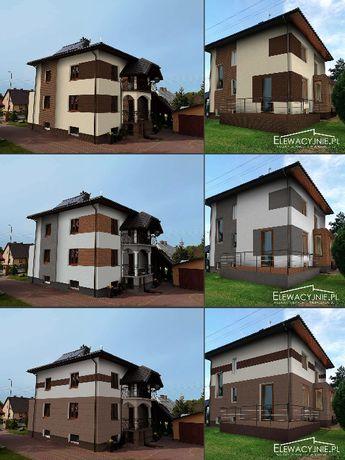 Projekt elewacji domu / Projekty budynku / wizualizacje 2D 3D remont