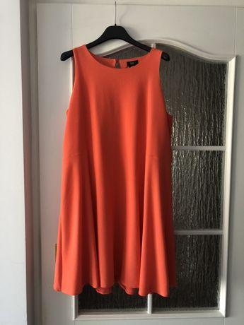 Łososiowa brzoskwiniowa sukienka F&F r. 42