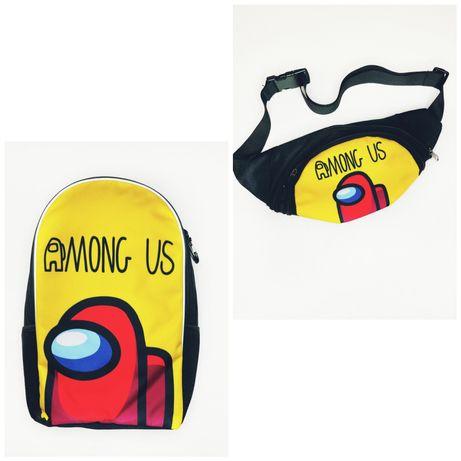 Амонг Ас школьный рюкзак и бананка от произв. Crazy Bags, опт/розн