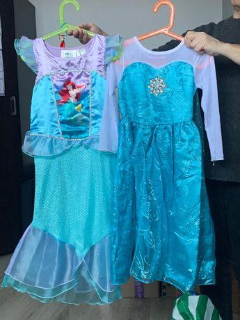 Sukienka syrenka i Elsa rozm 122-128