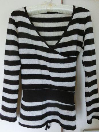 bluzka, sweterek beżowo- brązowy do karmienia