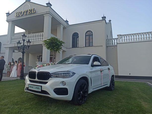 Auto do ślubu, na wesele, białe BMW X6 f16