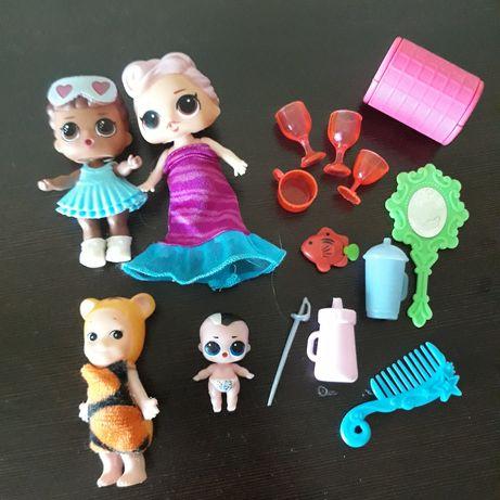 Куколки Лол набором.