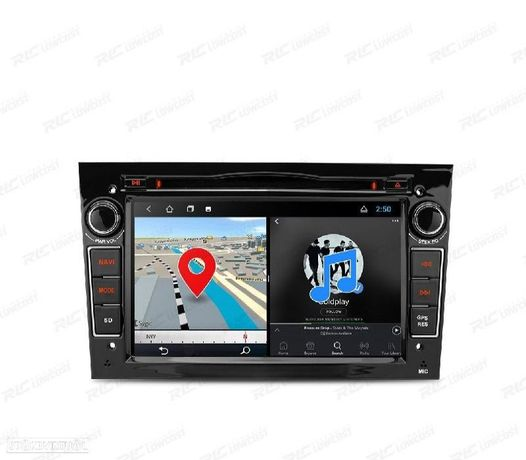 AUTO GPS ANDROID 10 PRETO OPEL ASTRA H / VIVARO / ZAFIRA / VECTRA / CORSA D