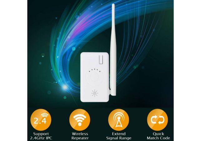 Extensor de alcance Hiseeu wireless para CCTV Repetidor NVR 2.4G