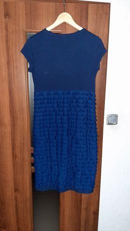 Sukienka koktajlowa firmy RYBA z wiskozy, rozmiar 40, falbanki