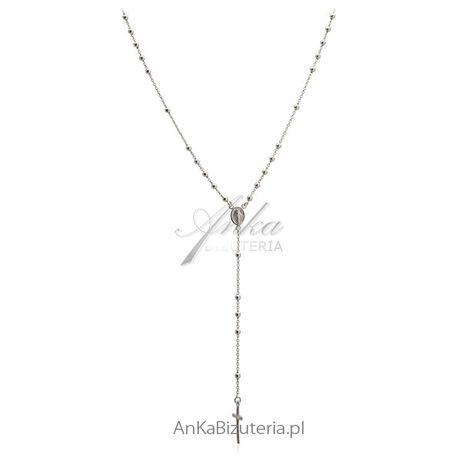 ankabizuteria.pl biżuteria meksykańska Naszyjnik srebrny różaniec