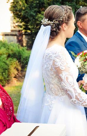 Ślubne kamienie, ozdoba do włosów, ślubna fryzura