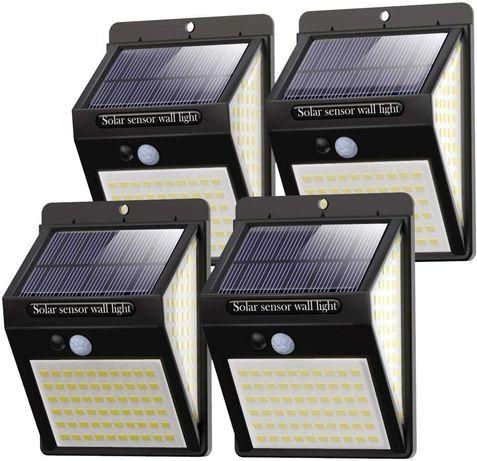 Pack 4 Focos Luz Solar Exterior Litogo / 140 LED / 270º (NOVO)