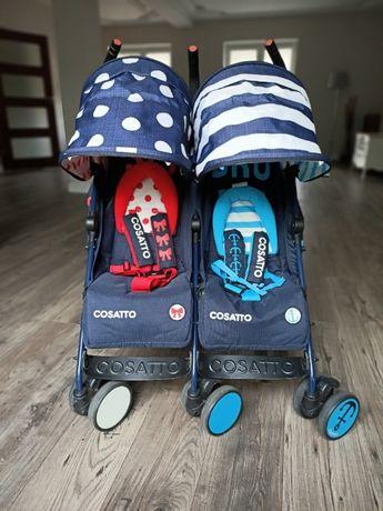 Spacerówka wózek Cosatto parasolka bliźniaczy bliźniacza rok po roku