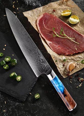 """Piękny Nóż szefa kuchni 8"""" kuchenny Damaszek 67 warstw Wysyłka GRATIS!"""