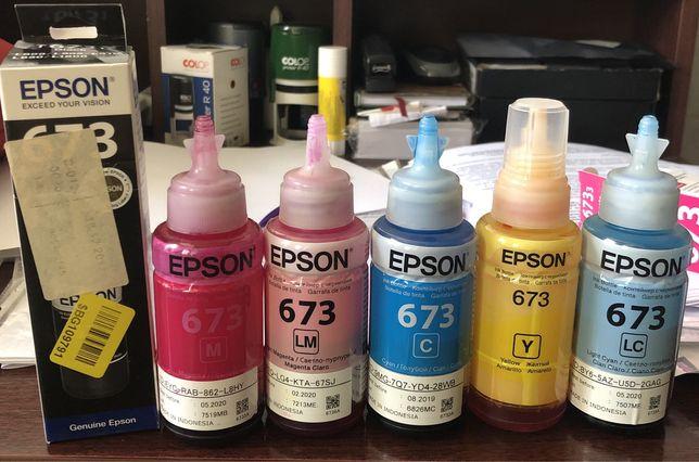Чернила и фотобумага на Epson принтер 6 цветов