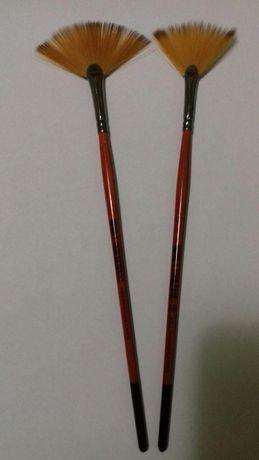 Кисть синтетика веерная № 4 KOLOS на короткой ручке