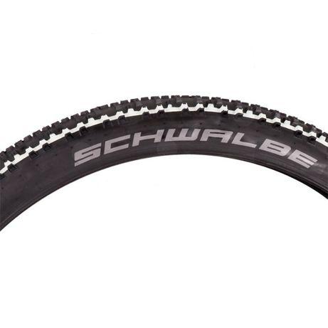 Покрышка велосипедная Schwalbe Smart Sam 26x2.25, чёрная+белые полосы