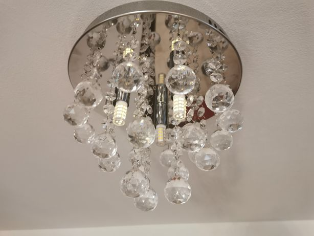 Lampa sufitowa a'la kryształy