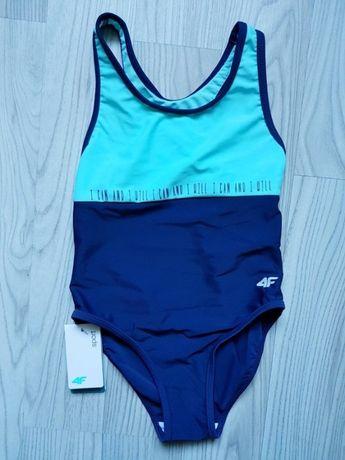 Strój kostium kąpielowy dziewczęcy 4F NOWY 104/110 i 116/122